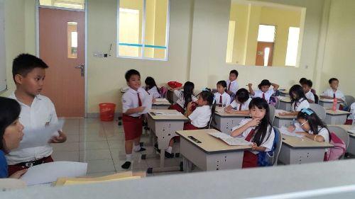 Ruang kelas lantai 1 sudah aktif belajar mengajar